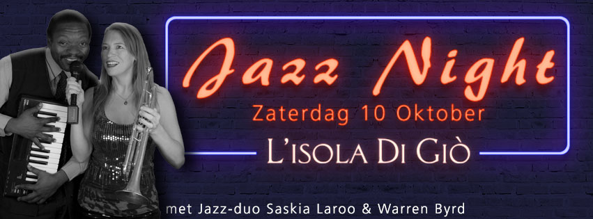 JAZZ NIGHT @ L'Isola Di Giò – zaterdag 10 oktober